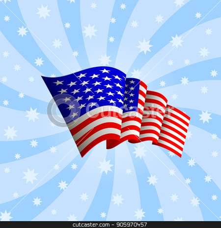 493b243af97d American Flag Icon. Waving Icon of United States of America. Symbol of USA.