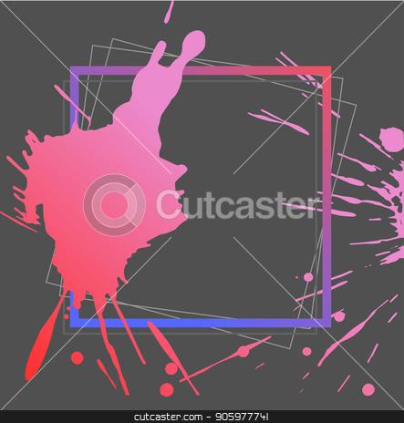 Splash ink frame template, gradient art, vector stock vector clipart, Splash ink frame template, gradient art, vector by Iryna Chaus