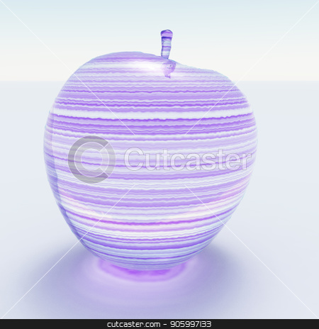 Glass Apple stock photo, 3d rendering. Apple made of glass by Bruce Rolff