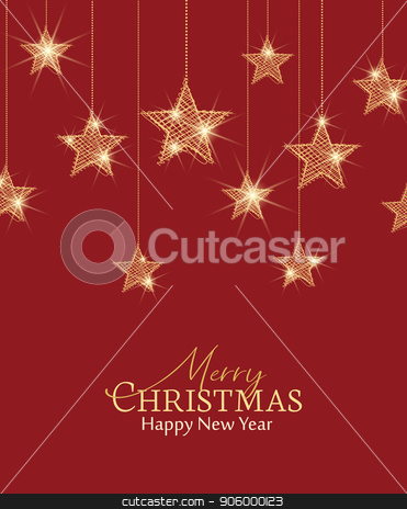 Christmas golden stars stock vector