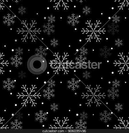 Snowflake simple seamless pattern  Abstract wallpaper
