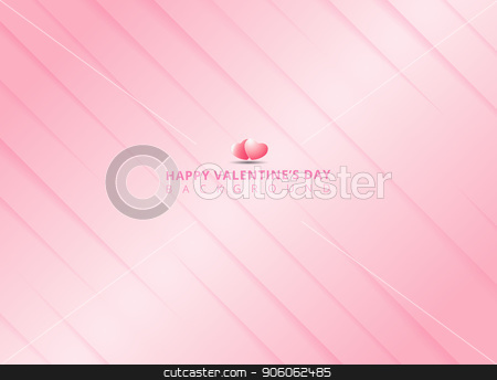 Abstract stripes paper cut pink Background and texture for valentines day.