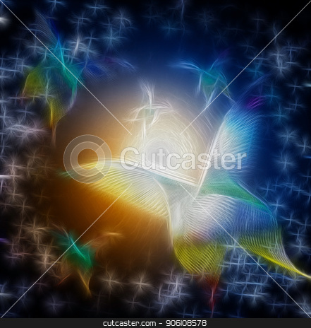 Butterfly Abstract stock photo, Neon light in shape of abstract butterfly by Bruce Rolff