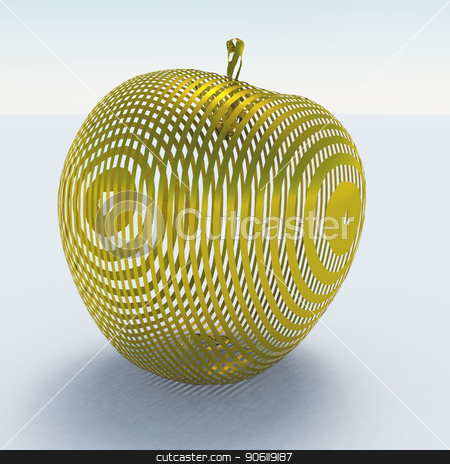 Golden Apple stock photo, Apple made of gold by Bruce Rolff