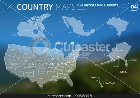 Canada, Mexico, Brazil, United States of America, Alaska ...