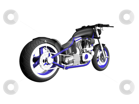3D Motorcycle on white stock photo, 3D Motorcycle on white background 2 by John Teeter
