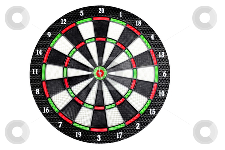 Dart Board isolated stock photo, Dart Board on isolated background by John Teeter