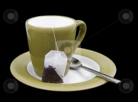 Green up of tea stock photo, Cup of tea with tea bag by John Teeter