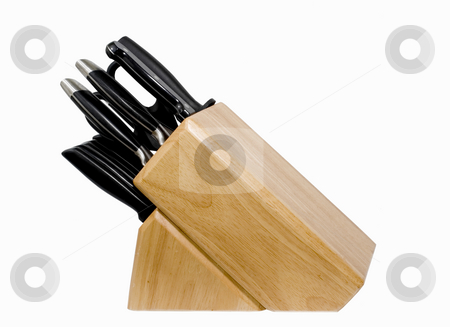 Knife Set stock photo, Knife set on isolated background by John Teeter