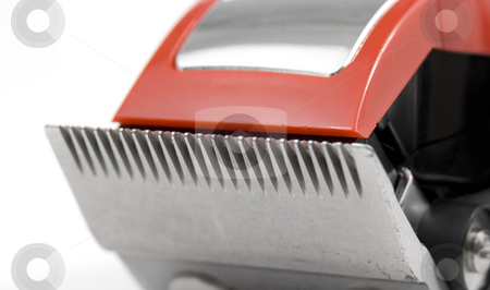 Close up of electric shaver stock photo, Close up of electric shaver by John Teeter