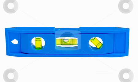 Blue Level for building stock photo, Blue level tool for building by John Teeter