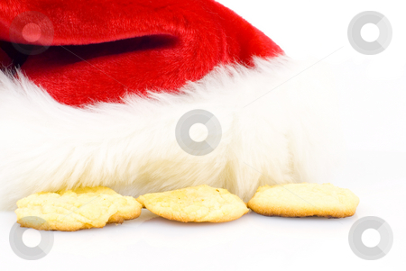 Santa hat with cookies stock photo, Santa hat with sugar cookies by John Teeter