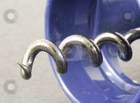 Close up of Cork Screw stock photo, Close up of Metal Cork Screw by John Teeter