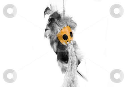 Scary chief mask stock photo, Scary chief mask hanging by John Teeter