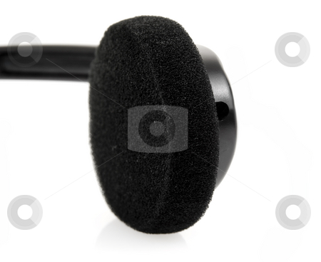 Close up of headphone stock photo, Close up of stereo headphone by John Teeter