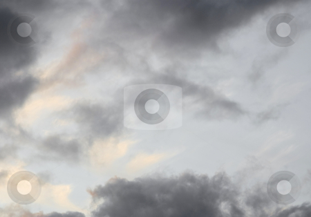 Storm clouds with light stock photo, Storm clouds with light above by John Teeter