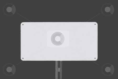 White Sign Grey stock photo, White sign on a grey background without writing by Henrik Lehnerer