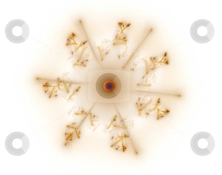 Fractal 30 brown star stock photo, Beautiful flows of brown colors build this fractal by Henrik Lehnerer