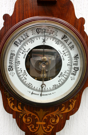 Old Aneroid Barometer. stock photo, Old Aneroid Barometer. by Stephen Rees