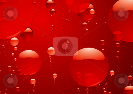 Red hot bubble stock photo, Illustrated red bubble background in hot fluid ideal desktop by Michael Travers
