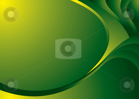 Green corner bend stock photo, Illustrated colorful background with copy space in green by Michael Travers