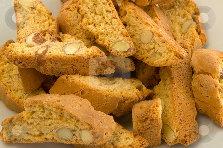 Italian Cantuccini Cookies stock photo, Italienische Cantuccini Kekse by Wolfgang Heidasch