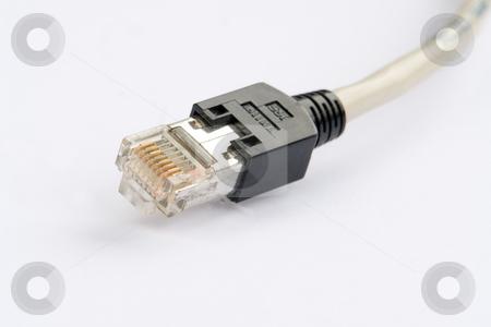 Western Netzwerk Stecker, geschirmt, STP stock photo, Zum Anschluss von Netzwerkkomponenten im LAN auf l???ngere Strecken, z.B. Computer und Router by Wolfgang Heidasch