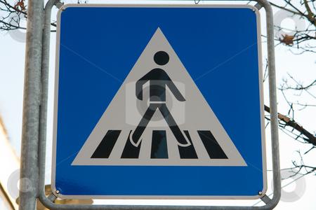 Verkehrschild Fu?g?nger?berweg stock photo, Zeichen 350: Fu?g?nger?berweg by Wolfgang Heidasch