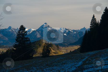 In the Allgaeu, Bavaria, Alps, Germany, Europe stock photo, Blick vom H???ndleskopf in Pfronten auf die Allg???uer Alpen by Wolfgang Heidasch