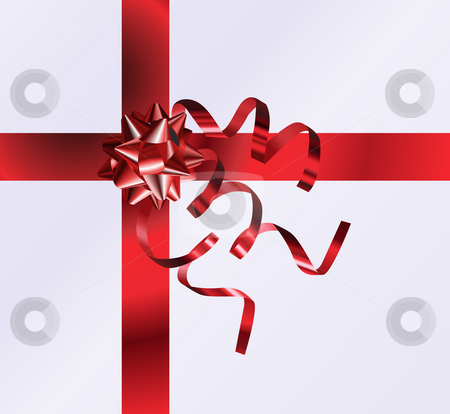 Gift Top View.  stock photo, An illustration of a nicely wrapped gift form the top, no meshes used by Christos Georghiou