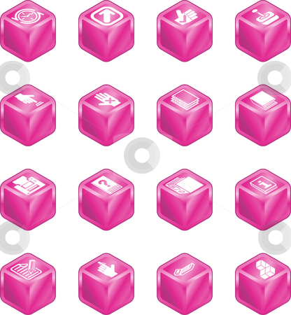 Applications Cube Icon Series Set stock photo, A cube icon series set for computer applications. by Christos Georghiou