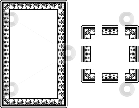 Art Nouveau Style border frame. stock photo, A Vector illustration of an Art Nouveau Style border frame; comes with seamlessly tillable component parts so you can make a frame to any size or aspect ratio. by Christos Georghiou