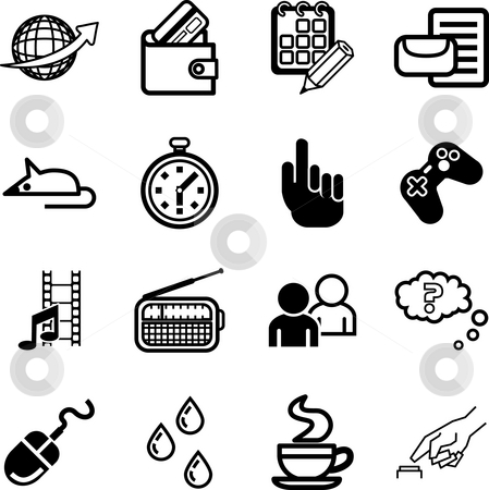 Computer application and media Icon set. stock photo, A Computer application and media Icon set by Christos Georghiou