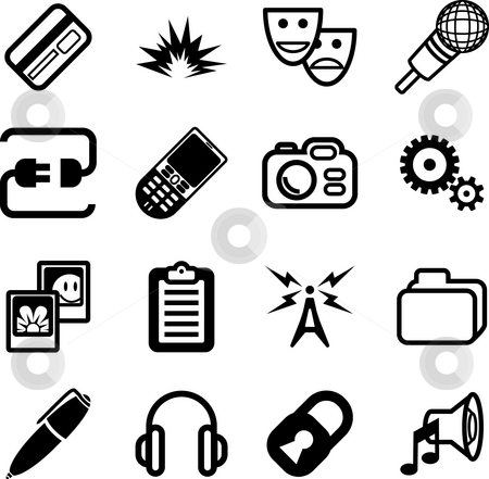 Network and computing Icon Series stock photo, A Network and computing Icon Series by Christos Georghiou