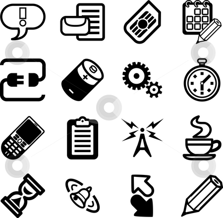 Mobile Phone Applications GUI Icon Series Set.  stock photo, A Mobile Phone Applications GUI Icon Series Set by Christos Georghiou