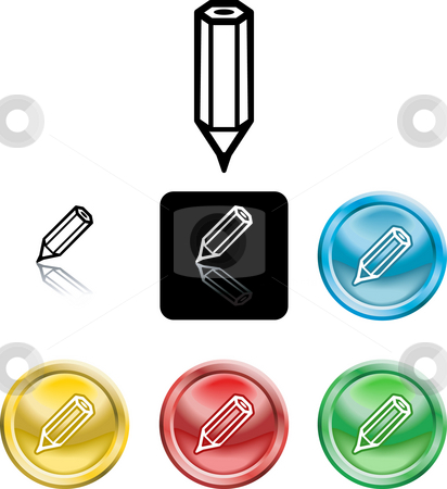 Pencil icon symbol stock photo, Several versions of an icon symbol of a stylised pencil by Christos Georghiou
