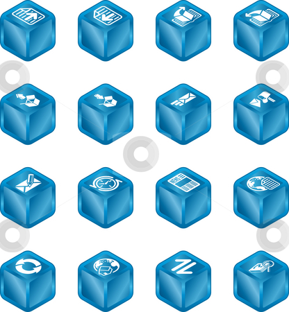 Internet Browser and Email Cube Icon Set Series stock photo, A internet browser and email cube icon set series by Christos Georghiou