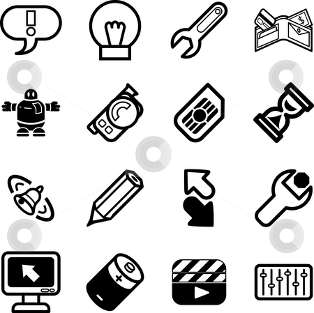 Mobile Phone Applications GUI Icon Series Set stock photo, A Mobile Phone Applications GUI Icon Series Set by Christos Georghiou