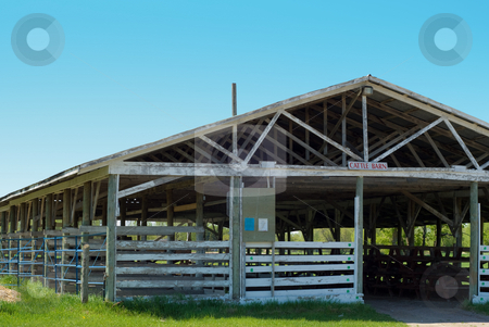Cattle Barn Close-up stock photo, Close-up view of an empty cattle barn by Richard Nelson