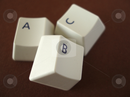ABC Keys stock photo, The ABC keys from a computer keyboard by Stephen Gibson