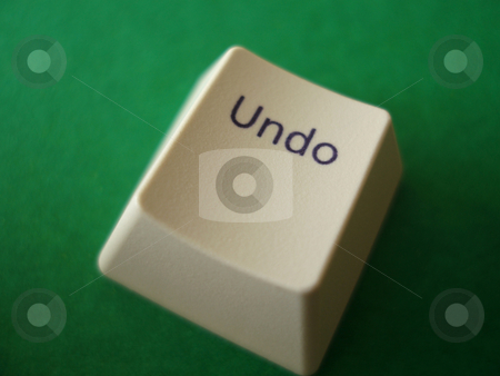 Undo Key stock photo, The undo key from a computer keyboard by Stephen Gibson