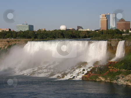 Niagara Falls stock photo, Niagara Falls (border of USA by Ritu Jethani