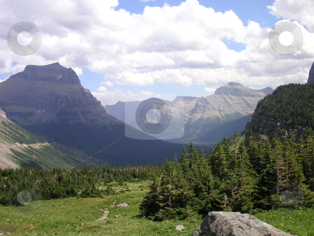 Logans Pass-Glacier National Park stock photo, A gorgeous view of Logans Pass in Glacier National Park, USA. by Caley Gonyea