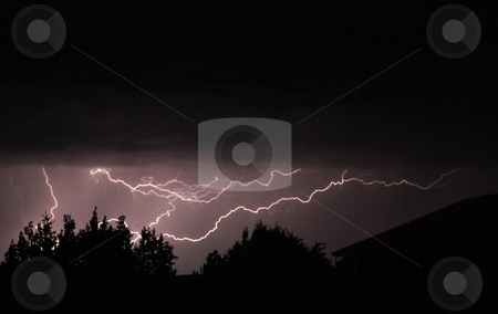 Lightning stock photo, Bright lightning during a severe summer thunderstorm in the Southwest. by Caley Gonyea