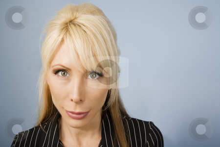 Beautiful Businesswoman stock photo, Close Up Portrait of a Beautiful Blonde Businesswoman by Scott Griessel