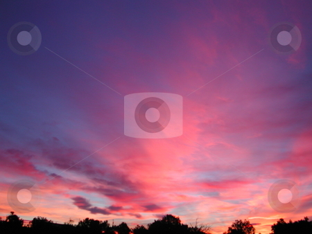 Vibrant New Mexican Sunrise stock photo, An early morning sunrise in the southwestern state of New Mexico. by Caley Gonyea