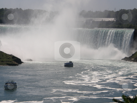 Niagara Falls stock photo, Niagara Falls - border of USA by Ritu Jethani