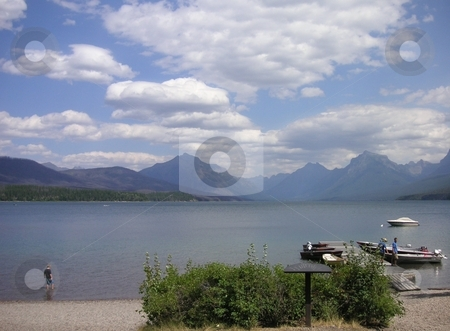 Glacier Lake stock photo, Glacier Lake in Glacier National Park, USA. by Caley Gonyea