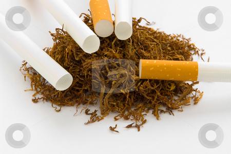 Tabak mit Zigarettenh?lsen stock photo, Tabak mit Zigarettenh?lsen by Wolfgang Heidasch