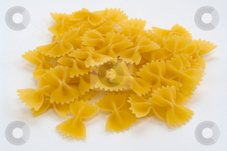 Farfalle pasta butterfly stock photo, Schemtterlings Nudeln Farfalle by Wolfgang Heidasch
